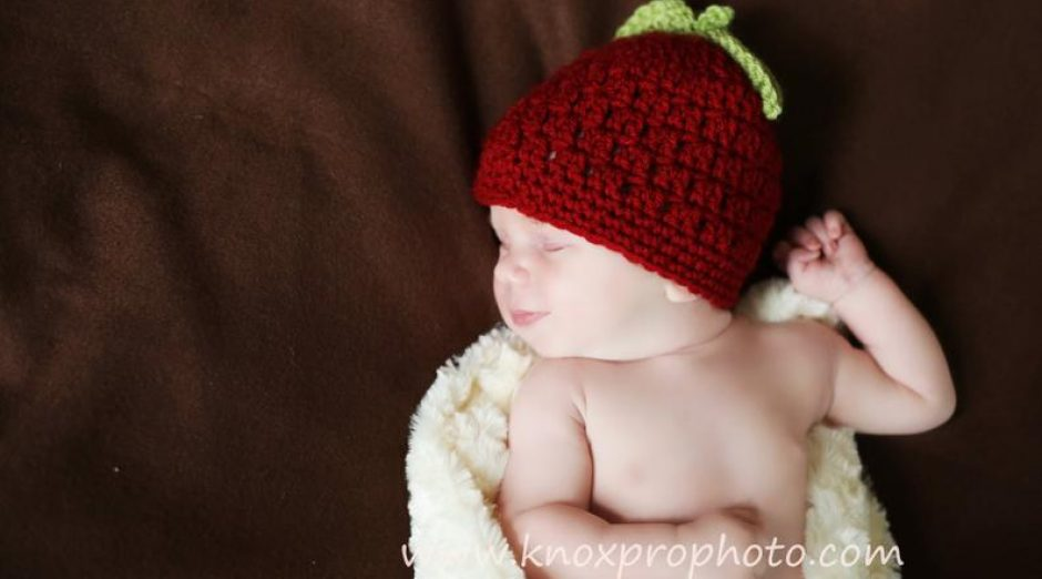 Newborn Apple Hat Pattern on Etsy